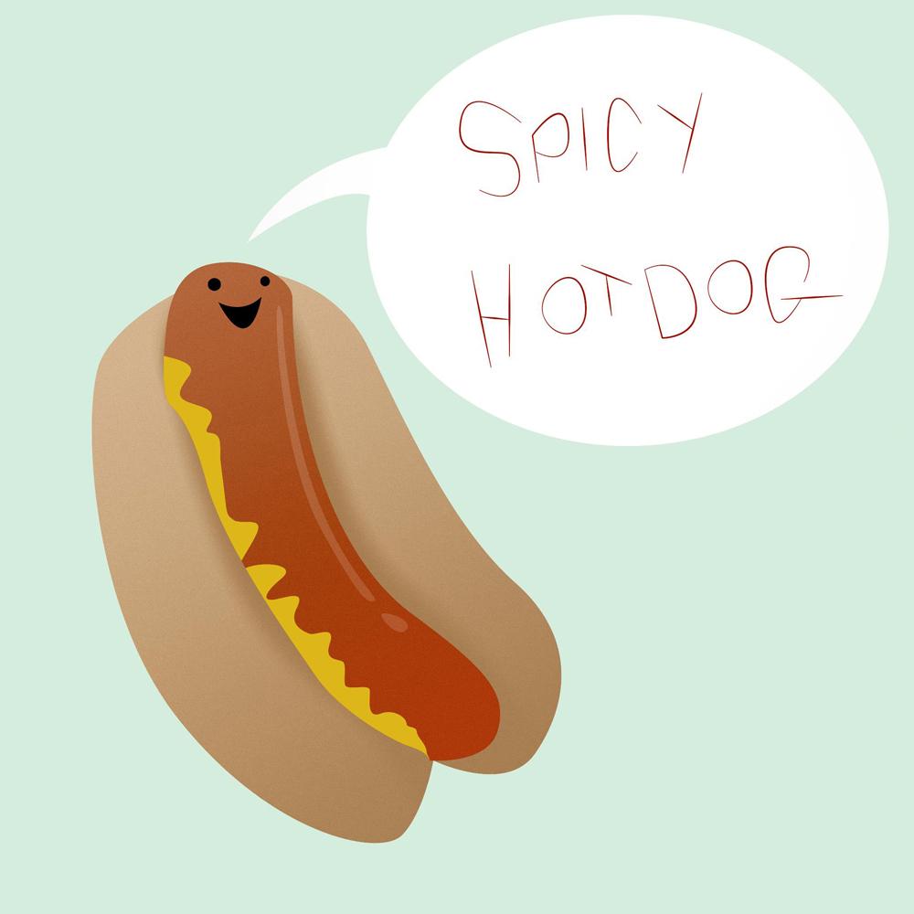 spicy hotdog